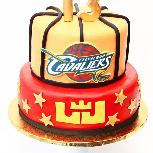Lebron James Cleveland Caveliers Birthday Cake Basketball