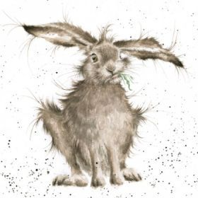 'Hare Brained' Mounted Print