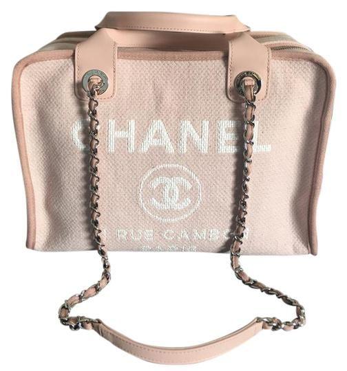 e1e1fddf310ae3 Chanel Cambon New 31 Rue Light Pink Canvas Tote | Bags | Chanel ...