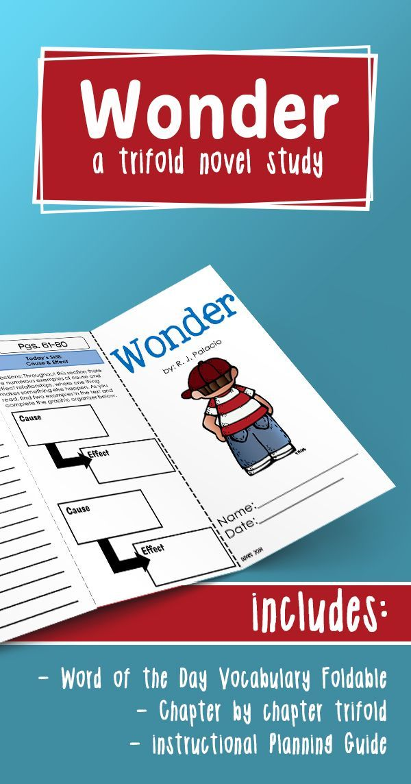Wonder Novel Study Wonder Novel Novel Studies Reading