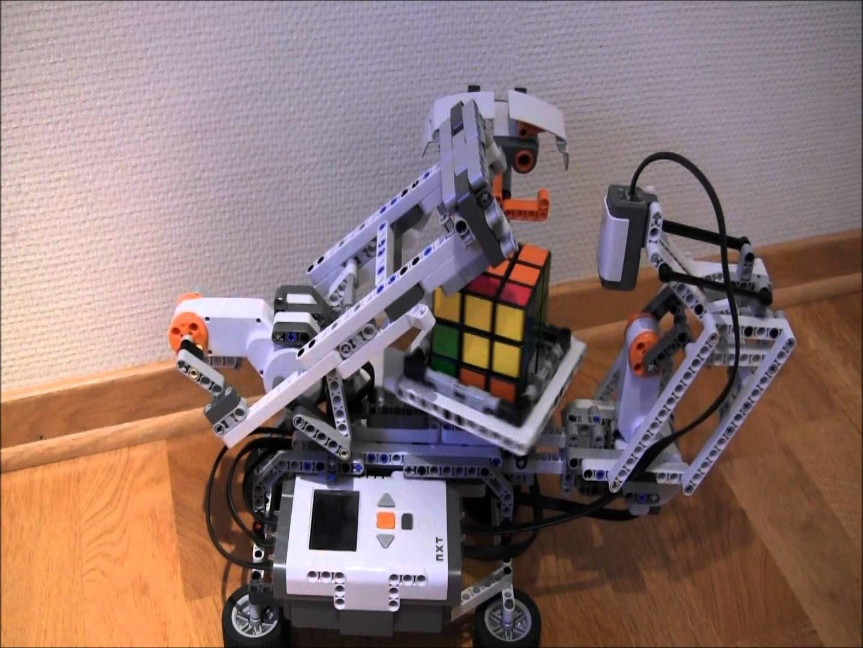 Lego Mindstorms Nxt Rubiks Cube Solver Mindcuber Building