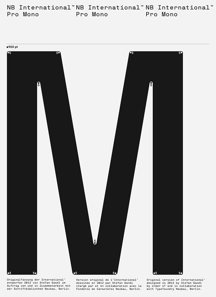 """NB International™ Pro Specimen on Behance. """"Not too crazy about the M"""""""