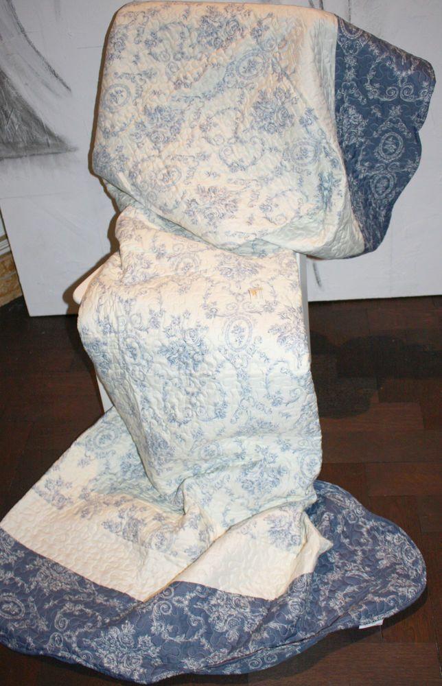 clayre & eef quilt decke tagesdecke patchwork old blue romantisch, Hause deko