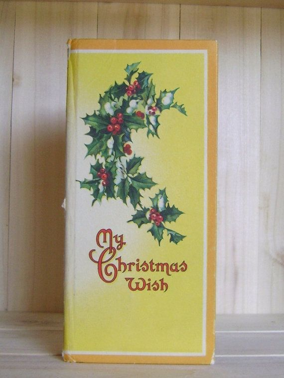 My Christmas Wish Antique Book Victorian Gift Book Greeting Card Gold Gilt Decoration Vintage Christmas Crafts Halloween Craft Books Childrens Christmas Crafts