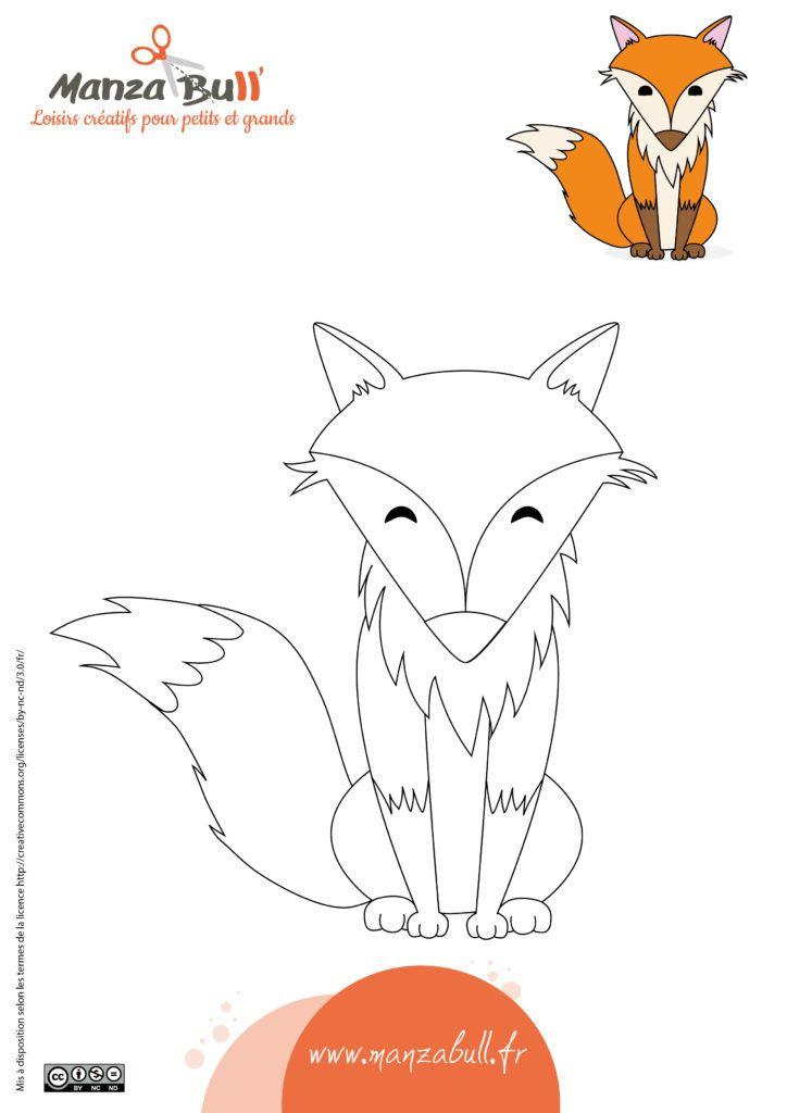 Coloriage renard à imprimer | Coloriage, Coloriage automne
