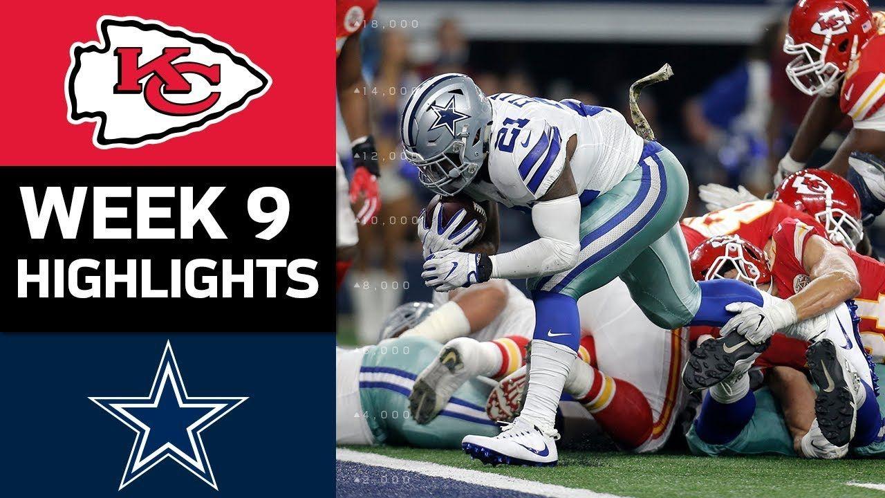 Chiefs vs. Cowboys NFL Week 9 Game Highlights Nfl week