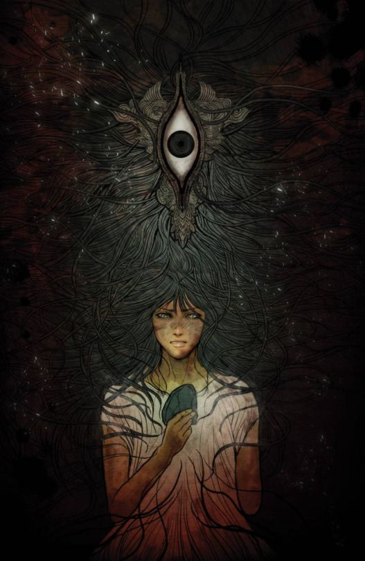 """Monstress (2015) // Image Comics """"Steampunk meets Kaiju in this original fantasy epic for mature readers, as young Maika risks everything to control her psychic link with a monster of tremendous power, placing her in the center of a devastating war between human and otherworldly forces."""