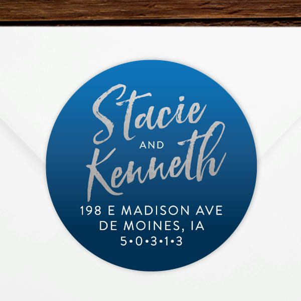 This is a photo of Massif Newlywed Return Address Labels