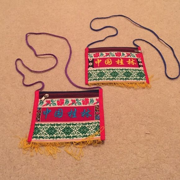 GORGEOUS Asian Purses Originally from Taiwan. A beautiful accessory, and a must have! No signs of wear. 2 for 25, 1 for 15. Price is firm for these! Bags Crossbody Bags