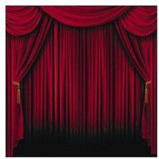 Fun Express Red Curtain Backdrop Banner Decoration 2 Piece