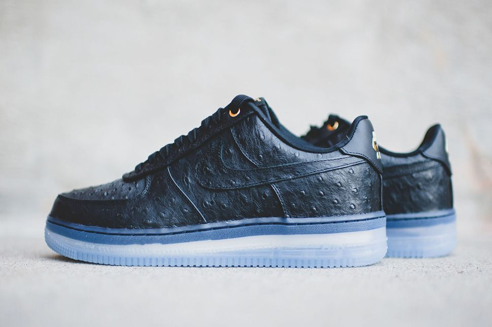 Nike Air Force 1 Cmft Lux Low Black Ostrich Detailed Pictures