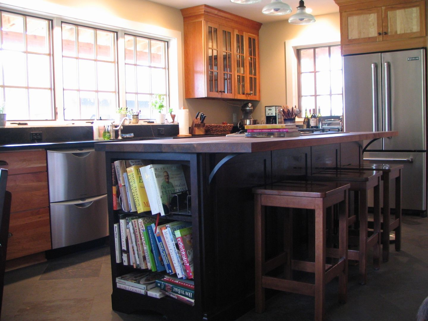 Kitchen Remodel In Farmhouse, Arts And Crafts Style, With Soapstone  Countertops, Decora Cabinets