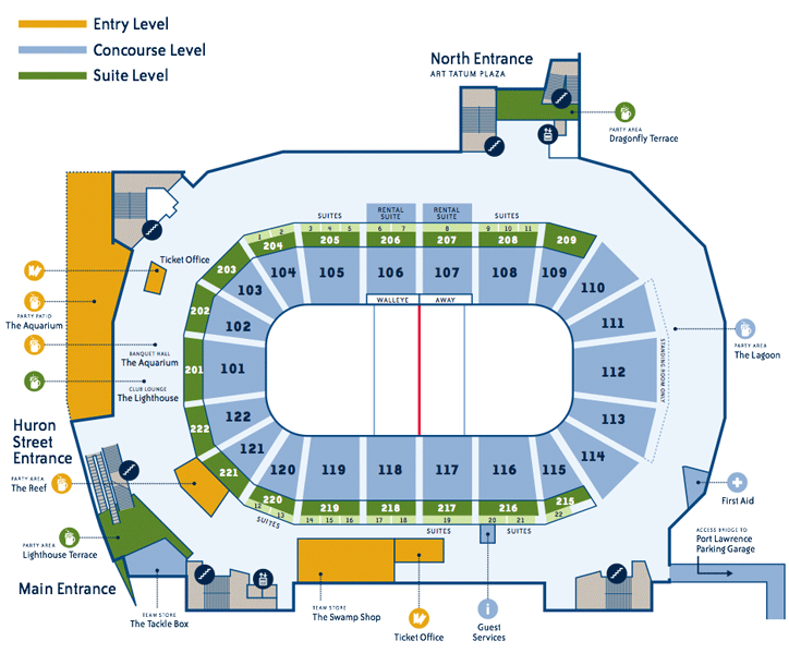 Going  A Walleye Game Day Eeep  Sports    Seating Charts