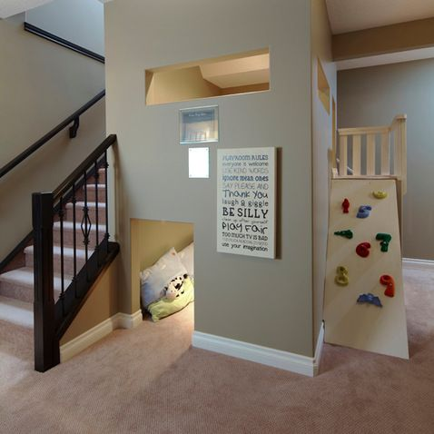 under stairs playroom design ideas  pictures  remodel  and Cool Basement Ideas Cool Basement Ideas