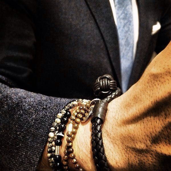 8fe5785cd96ca Woven Leather Bracelet by Bottega Veneta   Fashion/Men's Style ...