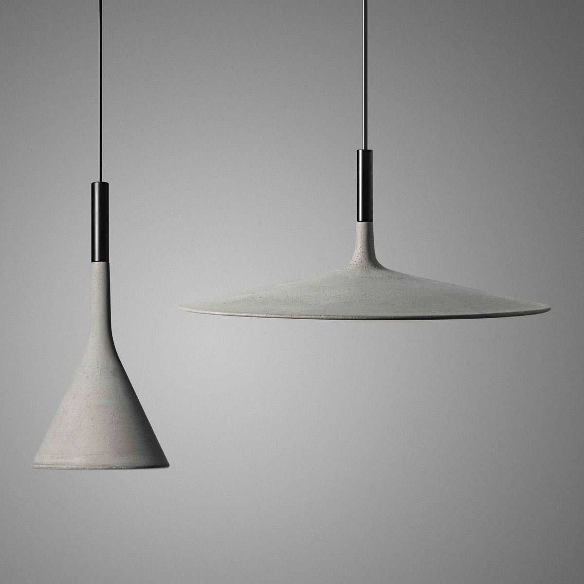 Foscarini   Aplomb Large, Marrone. The Pendant Lamp Aplomb By Foscarini  Combines Concrete ...