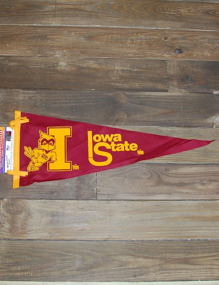 Isu Vintage Pennant Iowa State Iowa Farms Iowa