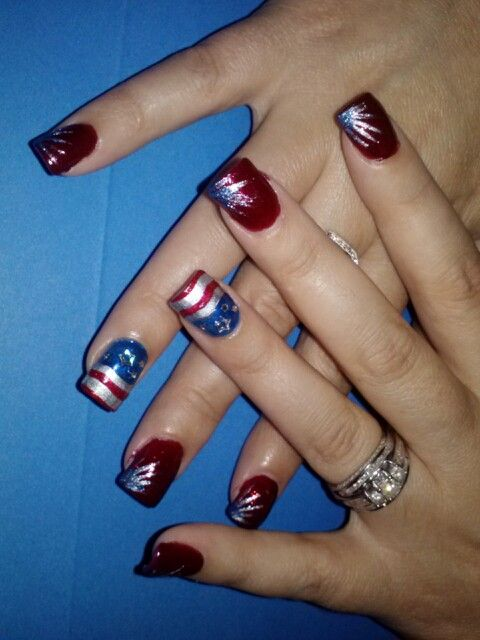 Memorial Day Nail Arte Chrystal Touch Check Out Www