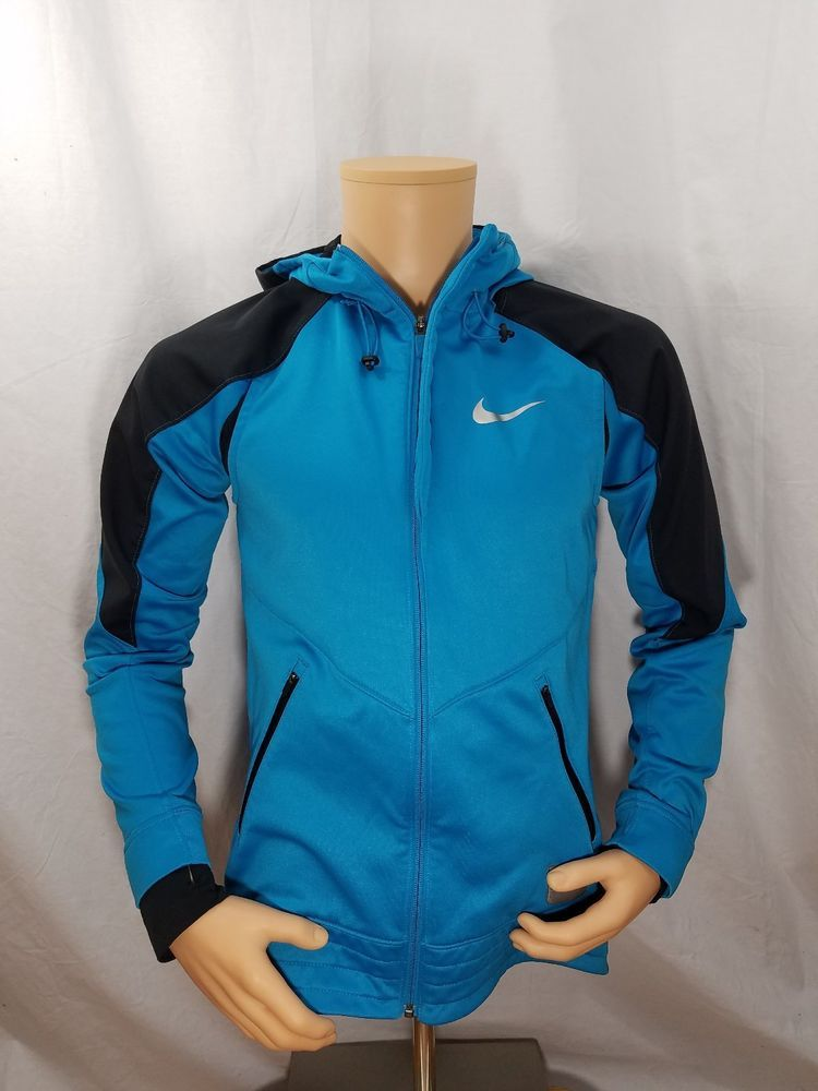 ed5a4204d7e8 Nike Men s athletic jacket Blue Sz Small with Hood Full Zip  fashion   clothing