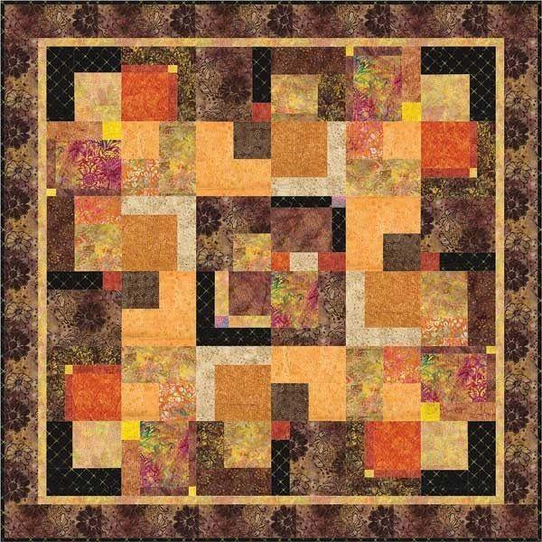 Anthology Batiks Cinnamon Spice Quilt Kit. 65 X 65