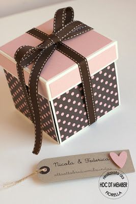 6 Scrapbook Candy Present Gifts Gift Box Template Exploding Box Card