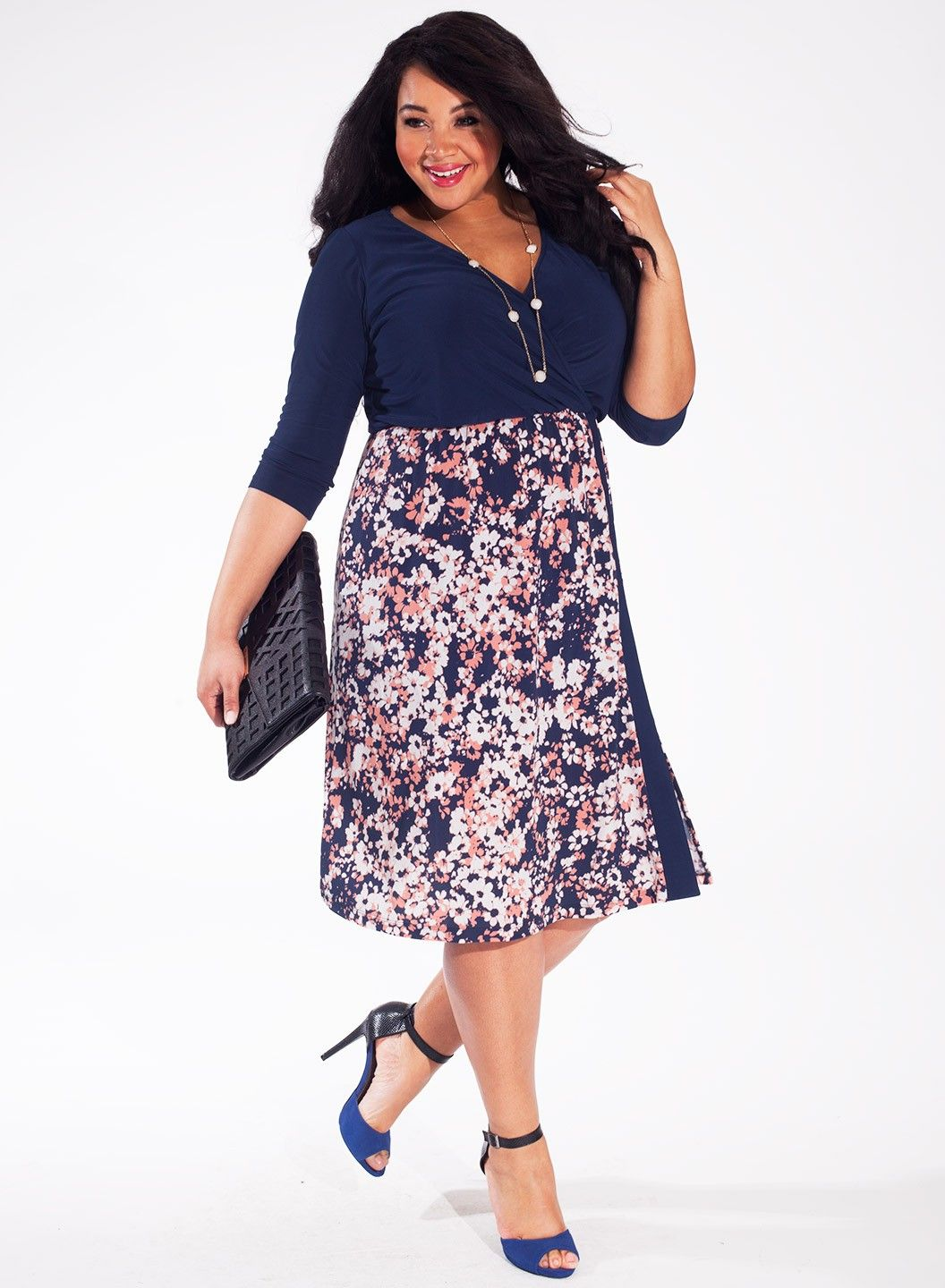Taylor Dress in Indigo Flower 50% OFF FALL PLUS SIZE FASHION now ...