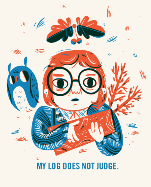 Lauren Gregg: Log Lady Silkscreen print
