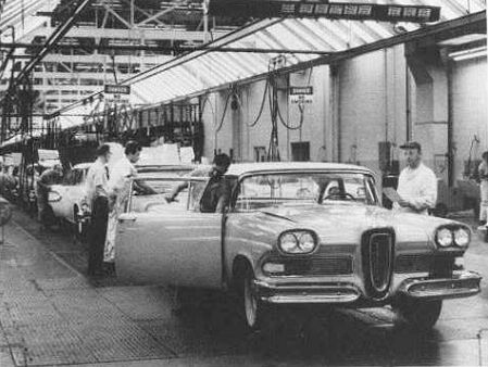Edsels In Production Edsel American Classic Cars Vintage