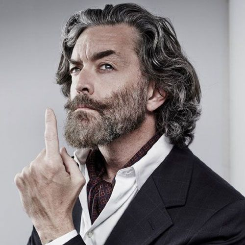 Long Hairstyles For The Older Man | Long Hair Trends | Pinterest ...