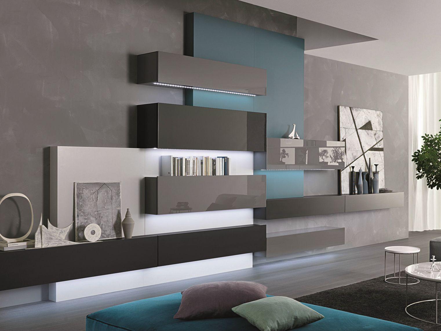 Pareti soggiorno con scrivania : parete soggiorno con scrivania ...