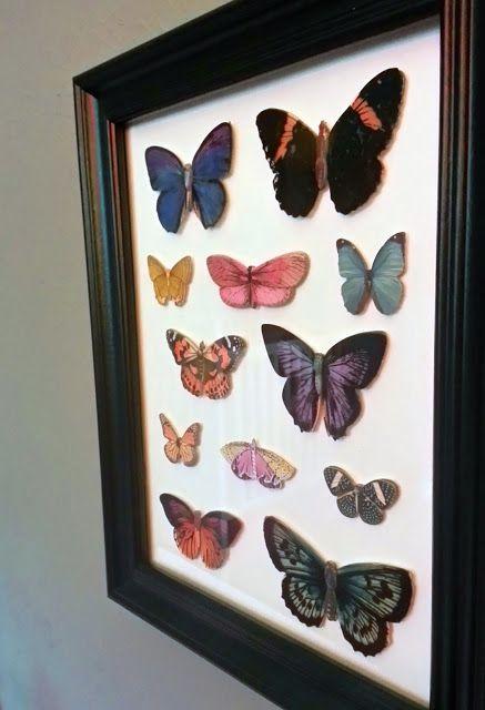 Mini Faux Butterfly Taxidermy Wall Decor