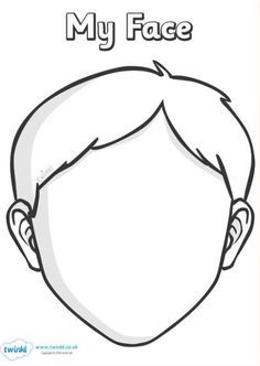 Image Result For Blank Faces Templates Sparklebox Boy Face