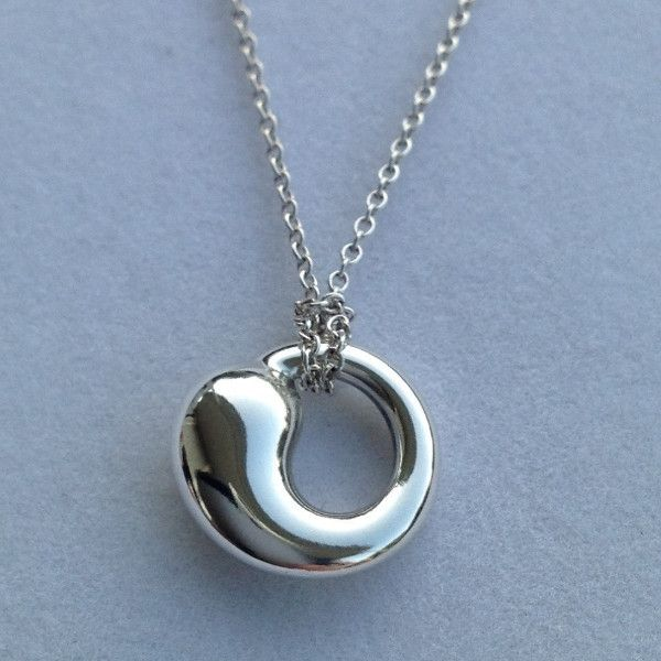 Estate tiffany co elsa peretti eternal circle necklace elsa peretti eternal circle necklace sterling silver 1675 mozeypictures Image collections