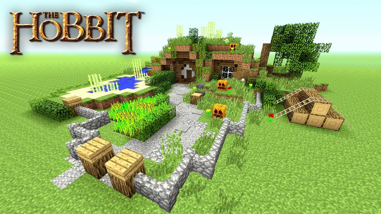 Minecraft how to make a hobbit hole tutorial hobbit house small sur