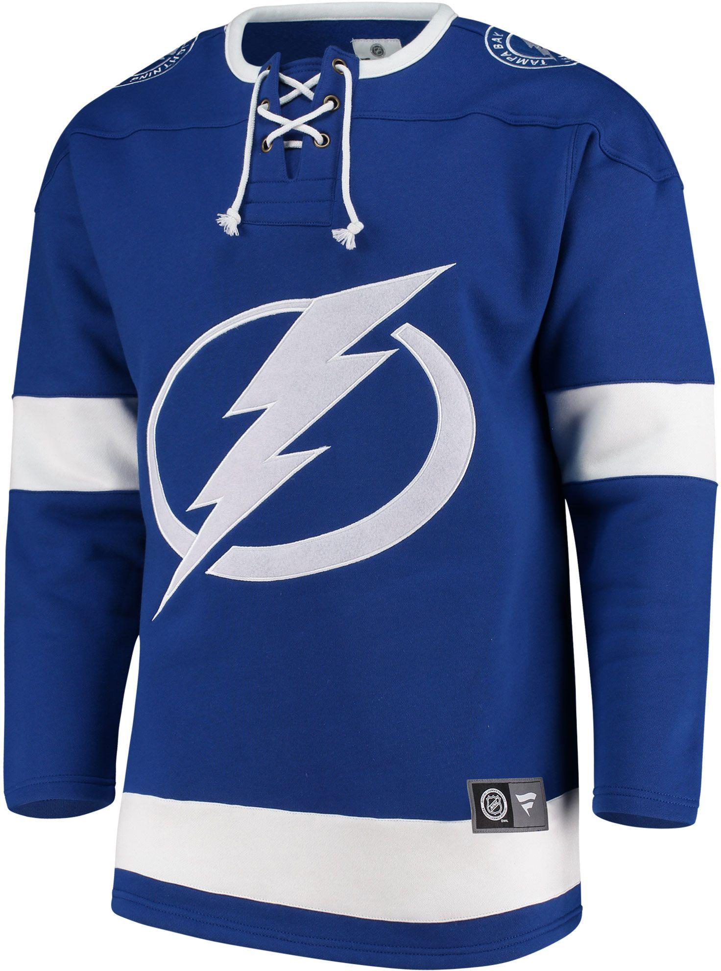 best cheap ee9f6 ec2a6 NHL Men s Tampa Bay Lightning Breakaway Blue Sweatshirt, Size  Medium