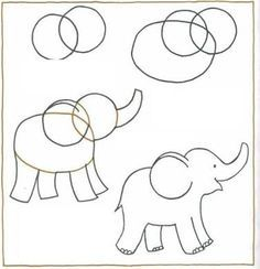 Easy To Draw Elephant Google Search Dibujos Pinterest