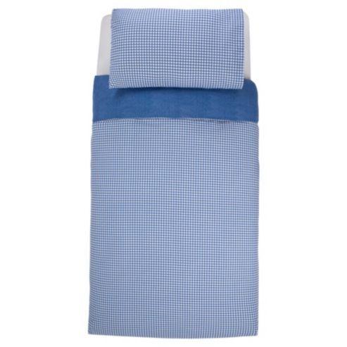 NEW SS14! Buy Denim Chambray & check duvet set SB (blue) from our Duvet Covers range - Tesco.com