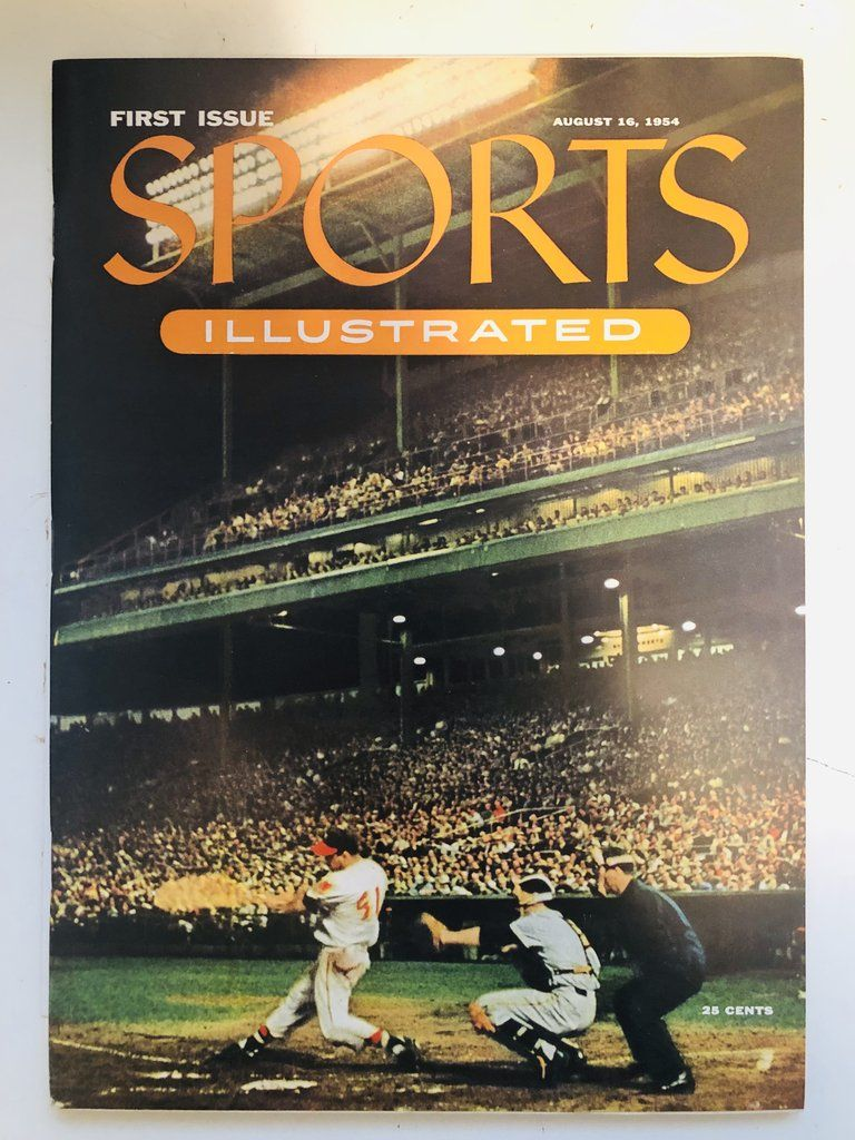 Sports Illustrated 1 rare first issue with Topps baseball