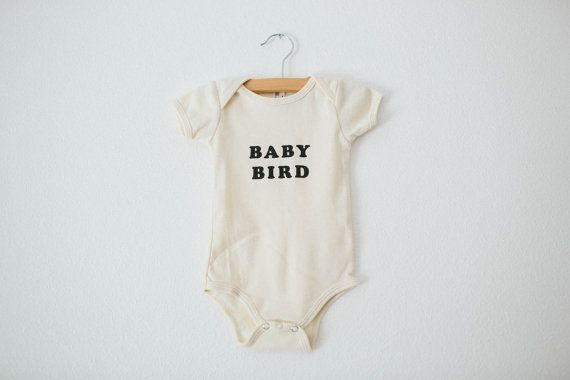 Baby Bird Infant's organic bodysuit by The Bee by TheBeeandTheFox