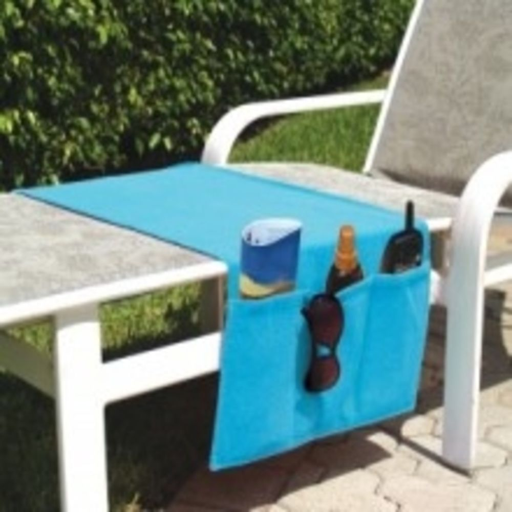Chaise Lounge Chair Organizer Terry Cloth Towel Turquoise