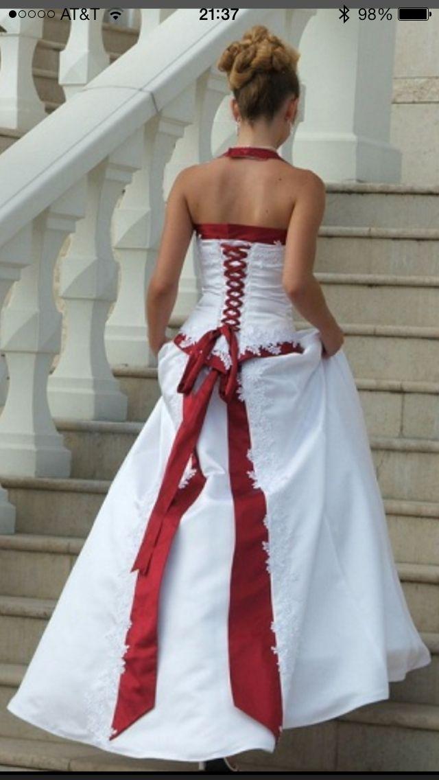 Red Wedding Dresses, Red White Wedding
