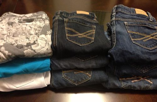 Lot Aeropostale Jeans Womens Size 00 Nine Pair - Great Condition