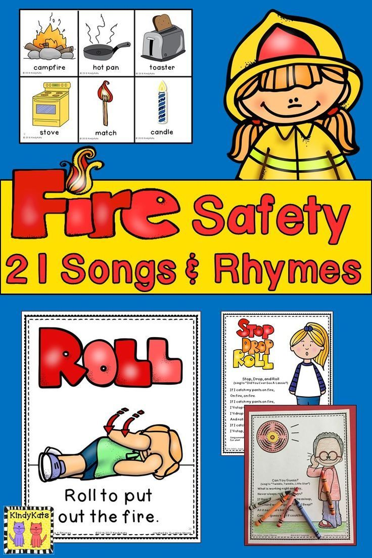 Fire Safety Songs and Rhymes Fire safety preschool, Fire