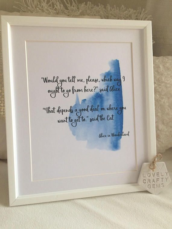 New Typography Print Range Now Available Includes A4 Sized Print In Mounted 12 By 10 Inch Frame Lyrics From Alice In Wonderland Print Typography Prints Print