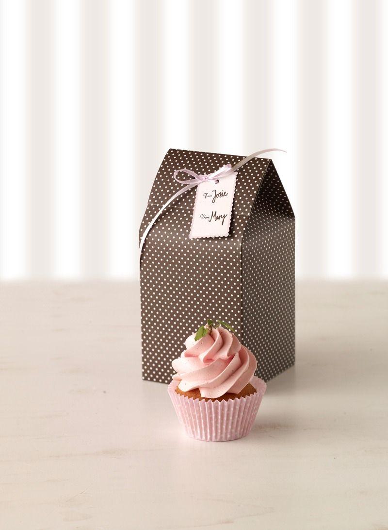 Cajas, pack 2 cajas individuales marrón topos rosas | Ideas para ...