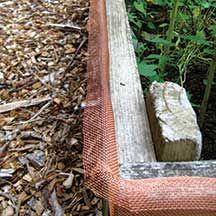 Slug Shield Perimeter Barrier 32 Roll 32 Rolls Of Woven Copper