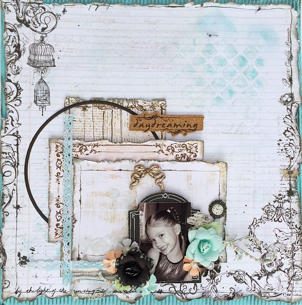 ~Swirlydoos Kit Club~ Daydreaming - Prima - Epiphany Collection Swirlydoos Kit Club using the October 2014 kit, Treasured Yesterdays. http://scrappingfancy.blogspot.com/2014/10/swirlydoos-kit-club-october-reveal.html