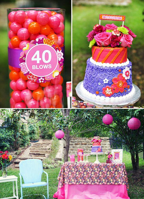 Playful Vibrant 40th Birthday Celebration