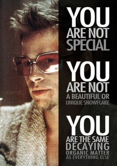 Fight Club Quotes New Meme You Are Not Special Fight Club Brad Me48u Quotes