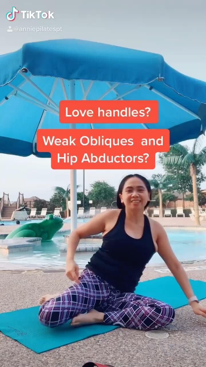 Love handles? Weak obliques and hip abductors Pilates strengthening program
